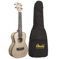 Amahi UK550 Concert Flamed Maple Top Intermediate Ukulele With Padded Gig Bag