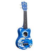 Amahi DDUK2 Soprano Ukulele Blue Bird Design, With Carrying Case