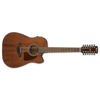 Ibanez Artwood Series AW5412CE 12-String Acoustic Electric Guitar w/ Cutaway, Open Pore Natural Finish