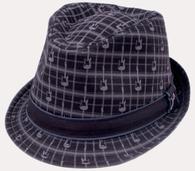 Fender Axe Plaid Fedora Hat