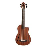 Kala Journeyman Acoustic-Electric U-Bass With F-Holes - Bass Ukulele
