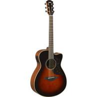 Yamaha A Series AC1MTBS Acoustic/Electric Guitar, Tobacco Brown Sunburst Finish