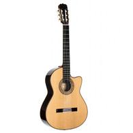 Alvarez CYM75CE Yairi Masterworks Series Classical Style Cutaway Acoustic-Electric Guitar, Natural Finish, w/ Alvarez Hardshell Case