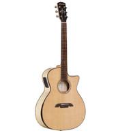 Alvarez AGFM80CEAR Artist Elite Series Grand Auditorium Cutaway Armrest Acoustic-Electric Guitar, Natural Finish