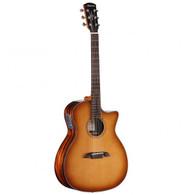 Alvarez AGE95CESHB Artist Elite Series Grand Auditorium Style Cutaway Acoustic-Electric Guitar, Red Cedar Shadowburst Finish