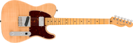 Fender Rarities Flame Maple Top Chambered Telecaster Electric Guitar, Maple Neck & Fingerboard, Natural Finish w/ Fender Deluxe Hardshell Case (d)