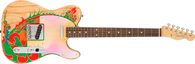 Fender Jimmy Page Signature Telecaster Electric Guitar, Gloss Original Jimmy Page Artwork Finish, Rosewood Fretboard w/ Fender Vintage Style Hardshell Case
