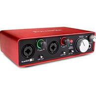 Focusrite Scarlett 2i2 Studio (3rd Gen) USB Audio Interface, w/ Accessories