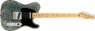 Fender Rarities Quilt Maple Top Telecaster Electric Guitar, Maple Neck & Fingerboard, Transparent Blue Cloud Finish w/ Fender Vintage Hardshell Case