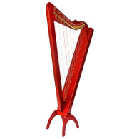 Rees Harps Grand Harpsicle Harp, 33 Strings, Red Stain Finish, Made in the USA