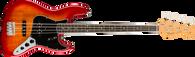 Fender Rarities Flame Ash Top Jazz Bass Guitar with Case (d)