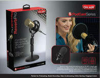 Tzumi On Air Reverb Pro Podcast Series Condenser Mic with Stand