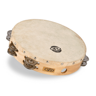 """CP BY LP® 10"""" TAMBOURINE WITH HEAD DOUBLE ROW"""