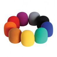 On-Stage ASWS58C9 Multi-Color Microphone Windscreens, 9 Pack