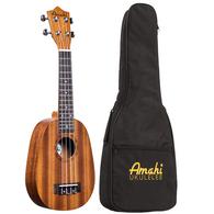 Amahi UK240S Pineapple Soprano Ukulele w/Case