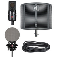 SE Electronics X1 S Mic Studio Bundle w/ RF-X Reflextion Filter, sE Isolation Pack (w/ pop shield), and 3 Meter Mic Cable
