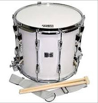 """Pro Beat MDH1412SWH 14"""" x 12"""" 10 Lug Marching Snare Drum"""