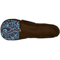 Kala Concert Blue Pattern Padded Ukulele Bag