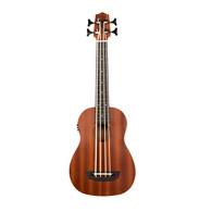 Kala Wanderer Acoustic-Electric U-BASS Satin/Mahogany/Kala Roundwound Strings/Fretted W/Bag
