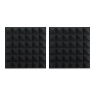 """Gator 2 Pack of Charcoal 12x12"""" Acoustic Pyramid Panel"""