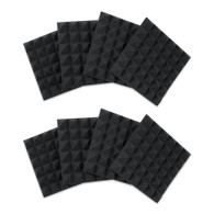 """Gator 8 Pack of Charcoal 12x12"""" Acoustic Pyramid Panel"""