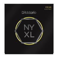 D'Addario NYXL0946 Nickel Plated Electric Guitar Strings,Super Light Top/Regular Bottom,09-46