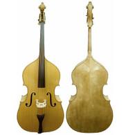 KRUTZ Series 300 Upright Bass 3/4 Size Blonde Wood Finish w/ Bag & Bow
