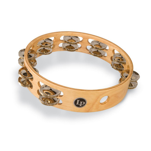 """LP® ACCENT 10"""" DOUBLE ROW WOOD TAMBOURINE WITH BRASS JINGLES"""