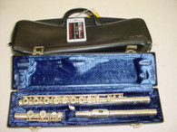 Emerson Open Hole Inline G C Foot Solid Silver Flute w/ Case - Previously Owned