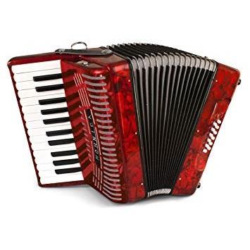 Hohner Harmonica 1303 12 Bass Piano Accordion - Pearl Red