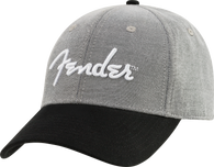 Fender® Hipster Dad Hat, Gray and Black, One Size Fits Most