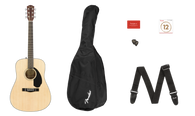 Fender CD-60S Dreadnought Pack V2, Natural w/ gigbag and accessories