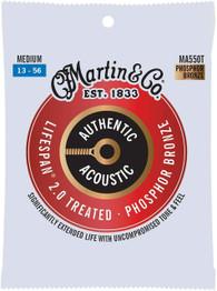 Martin Guitar Authentic Acoustic Lifespan 2.0 MA550T, 92/8 Phosphor Bronze, Treated Medium-Gauge Strings
