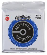 Martin Guitar MA540 Authentic Acoustic Light Guitar Strings, 92/8 Phosphor Bronze