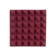 """Gator 2 Pack of Burgundy 12x12"""" Acoustic Pyramid Panel"""