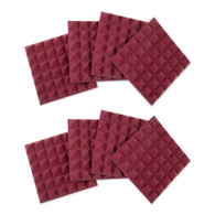 """Gator 8 Pack of Burgundy 12x12"""" Acoustic Pyramid Panel"""