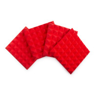 """Gator 4 Pack of Red 12x12"""" Acoustic Pyramid Panel"""