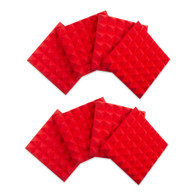 """Gator 8 Pack of Red 12x12"""" Acoustic Pyramid Panel"""