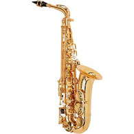 P. Mauriat Professional Alto Saxophone, Rolled Tone Holes, Outfit Gold Lacquer