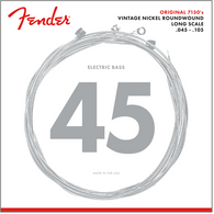 Original 7150 Bass Strings, Pure Nickel, Roundwound, Long Scale, 7150M .045-.105 Gauges, (4)