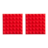 Gator 2-pack of Red 12-inch x 12-inch Acoustic Pyramid Panel