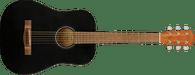 Fender FA-15 3/4 Scale Steel with Gig Bag, Walnut Fingerboard, Black w/ Bag