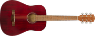 Fender FA-15 3/4 Scale Steel with Gig Bag, Walnut Fingerboard, Red  w/ Bag