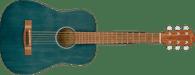Fender FA-15 3/4 Scale Steel with Gig Bag, Walnut Fingerboard, Blue w/ Bag