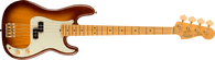 Fender 75th Anniversary Commemorative Precision Bass®, Maple Fingerboard, 2-Color Bourbon Burst w/ Deluxe Molded Hardshell – Inca Silver with Blue Interior