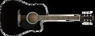 Fender Acoustic Guitar FA-125CE Dreadnought, Walnut Fingerboard, Black