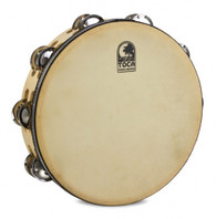 """Toca Player's Series Wood Tambourine, 10"""" Double Row with head"""