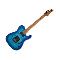 Schecter PT Pro Electric Guitar - Trans Blue Burst Roasted Maple Neck