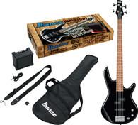 Ibanez IJSR190NBKN Electric Bass Package (Black Night)