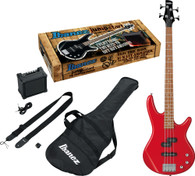 Ibanez IJSR190NBKN Electric Bass Package (Red)